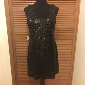 JS Boutique black sequins dress 12
